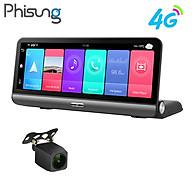 Camera hành trình Phisung P03 đặt taplo ô tô 4G, wifi, 8 inch tích hợp cam lùi Mã P03 - Hàng nhập khẩu thumbnail