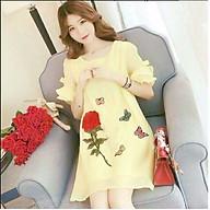 Đầm bầu váy bầu hoa hồng dn19082206 thumbnail