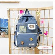 Balo nữ sinh viên- Balo thời trang đi học laptop chống nước (tặng kèm sticker ) thumbnail