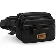 Túi bao tử đeo chéo, đeo thắt lưng vải canvas thời trang nam T68 SPORT (Kaki - Xanh - Đen) thumbnail