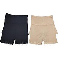 Combo 4 Quần mặc trong váy chất cotton siêu mịn 2 màu đen và 2 màu be thumbnail