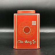 Hộp vuông đựng trà bằng thép màu đỏ thumbnail