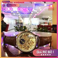 Đồng hồ nam Tevise T820 Automatic, full box và thẻ bảo hành 3 năm, chống xước , chống nước, dây da thumbnail