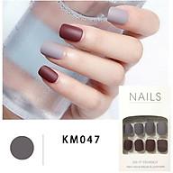 Bộ 24 móng tay giả đẹp (KM047) tặng kèm thun lò xo cột tóc màu đen tiện lợi thumbnail