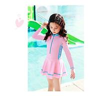 Bộ bơi bé gái dài tay liền chân váy (2-10 tuổi) thumbnail