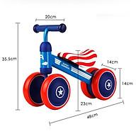 Xe chòi chân kiêm xe đạp cho bé Motion - Xe thăng bằng khung thép, ghế da cho trẻ em DC018 thumbnail