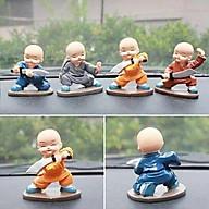 Bộ tượng 4 Chú Tiểu múa đao luyện võ để ô tô, Trang trí - Phật Duyên Shop thumbnail