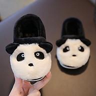 Giày bông mùa đông ấm áp đôi chân cho bé trai hình gấu trúc xinh xắn thumbnail