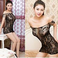 Che Tên Đồ Ngủ Lưới Xuyên Thấu Đan Dây Khoét Đáy Cosplay Sexy Bodystocking Erotic Lingerie Nightwear Brave Man BCS21 14 8021 thumbnail