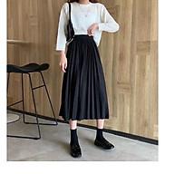 Chân váy XẾP LY dáng dài - độ dài vừa phải vận động thoải mái thumbnail