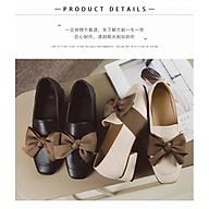 Giày búp bê 3 phân mũi vuông đính nơ lụa siêu xinh A5 thumbnail