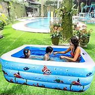 Bể bơi cho bé,Bể bơi phao hình chữ nhật Chất liệu nhựa bền đẹp-An toàn cho bé thumbnail