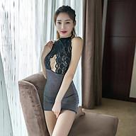Cosplay Cô Thư Ký Gợi Cảm Kim Sa Phối Ren Tặng Quần Lọt Khe Secretary Erotic Dress Nightwear Brave Man BCS21 A091 thumbnail