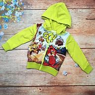 Áo khoác trẻ em thời trang bé trai thun da cá in 3D angry bird từ 6kg đến 11kg thumbnail