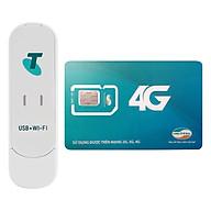 USB Phát Wifi 3G ZTE MF70 21.6Mbps + Sim Viettel 10GB Tháng - Hàng Chính Hãng thumbnail