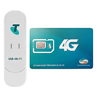 USB Phát Wifi 3G ZTE MF70 21.6Mbps + Sim Viettel 12GB Tháng - Hàng Chính Hãng thumbnail