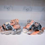 Tì hưu phong thủy đá tự nhiên màu đỏ cam nặng 5kg (1 cặp) dài 23 cm đá canxite tự nhiên cho người mệnh Thổ và Hỏa thumbnail