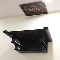 Bàn thờ treo gỗ sồi phun màu nâu đậm (tặng tấm chống ám khói) - BH76 thumbnail