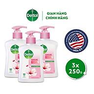Combo 3 chai nước rửa tay Dettol kháng khuẩn dưỡng da - Chai 250g thumbnail