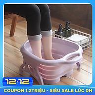 Chậu ngâm chân massage nhựa PP gấp gọn thông minh + Tặng 1 khăn lau 30x40cm thumbnail