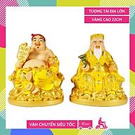 Tượng thờ Thần Tài Thổ Địa lớn vẽ màu áo vàng - Cao 22cm thumbnail