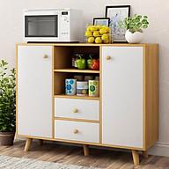 Kệ tủ bếp KB07-2 để nồi cơm điện lò nướng để lò vi sóng đồ nhà bếp loại tốt mã gỗ MDF lõi xanh chống ẩm chống nước cao cấp sản xuất tại Việt Nam thumbnail