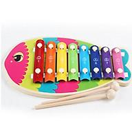 Đồ chơi gỗ thông minh bộ đàn xylophone hình cá thumbnail