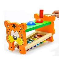 Đồ chơi gỗ đập chuột đập bóng đánh đàn hình hổ cho bé thumbnail