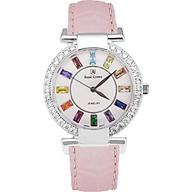 Đồng hồ nữ chính hãng Royal Crown 4604 - dây da hồng thumbnail