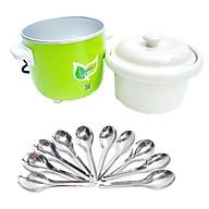 Nồi tiềm yến, nấu soup 0,7L (nắp sứ)+ Tặng kèm 10 muỗng súp inox thumbnail