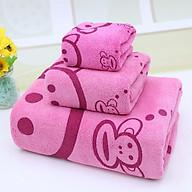 Set khăn hình thú cho bé và gia đình 3 món khăn tắm, khăn lau, khăn mặt KB1911 thumbnail