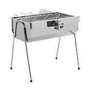 Bếp nướng than hoa, bếp nướng ngoài trời cỡ lớn V5L, có motor xoay tự động, lò nướng than inox thumbnail