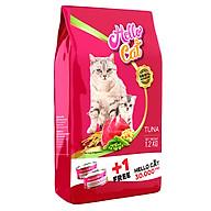 Thức Ăn Hạt Cho Mèo Thái Lan Hello Cat Tuna 1.2Kg - Tặng Lon Pate Hello Cat 190G thumbnail