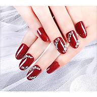 Móng tay giả nail thời trang đính đá - Bộ 12 móng thumbnail