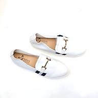 Min s Shoes - Giày Lười Da Thật GL63 Trắng thumbnail