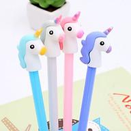 [COMBO 3 Chiếc] Bút Bi Ngựa 1 Sừng Cực Dễ Thương - Bút Bi Nước Văn Phòng Mực Đen thumbnail