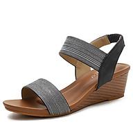 Tên sản phẩm Giày quai ngang nữ giày sandals nữ dép quai hậu nữ cao 5 cm Mã 1418- 169A thumbnail