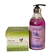 ZEELEE COLLAGEN DIỆP LỤC WHITENING BODY CREAM 200G - tặng kèm sữa tắm 600ml thumbnail