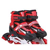 Giầy trượt patin QF 8 bánh đèn màu đỏ - vòng bi Apec 7 thumbnail