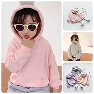 AN4(Size90-140)9-27kgÁo hoodie nỉ bông cho bé gáiThời trang trẻ Em hàng quảng châu thumbnail