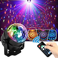 Đèn nháy theo nhạc led cầu hiệu ứng 7 màu siêu đẹp, đèn bay phòng cao cấp cho phòng karaoke phòng ngủ có remote điều khiển từ xa tiện lợi, đèn nháy theo nhạc cảm biến âm thanh nháy theo giai điệu nhac thumbnail