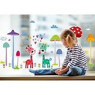 Decal dán tường hoạt hình nai và nấm DLX1455 thumbnail