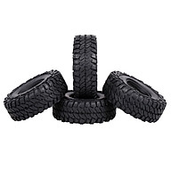 4PCS 110mm 1.9in Rubber Tyre Wheel Tires for 1 10 RC Rock Crawler Compatible with Axial Traxxas Hsp Redcat Rc4wd Tamiya thumbnail