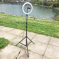 Đèn Led Ringlight size 26cm hỗ trợ ánh sáng livestream bán hàng online ( kèm chân 2.1m và kẹp điện thoại ) thumbnail