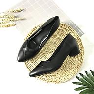 Giày cao gót nữ LUCACY da thật họa tiết khâu mũi cao cấp 3PKM thumbnail