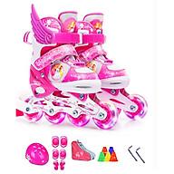 Bộ Giày trượt Patin trẻ em DP Công Chúa có ánh sáng (Kèm bộ phụ kiện) thumbnail