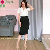 Chân váy bút chì dài công sở Hiền Trần BOUTIQUE, chất vải dày dặn, co giãn tốt, xẻ sau, khóa hông thumbnail