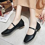Giày búp bê quai ngang mũi vuông đế cao 3 phân A7 thumbnail