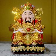 Tượng Thần Tiền đặt bàn thờ Thần Tài Thổ Địa xi vàng-Nhiều cỡ thumbnail