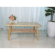Bàn trà sofa Hana hình chữ nhật hai tầng - Gỗ tự nhiên thumbnail